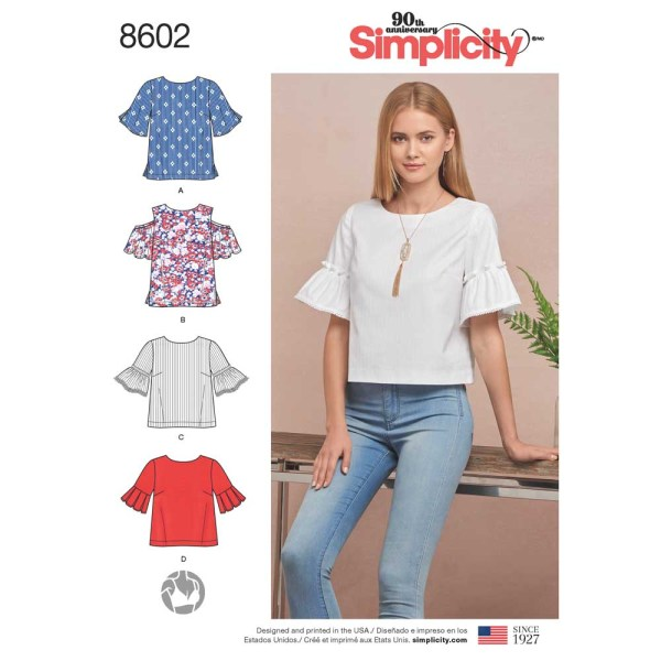 8602 simplicity sleeve detail pattern 8602 a envelope