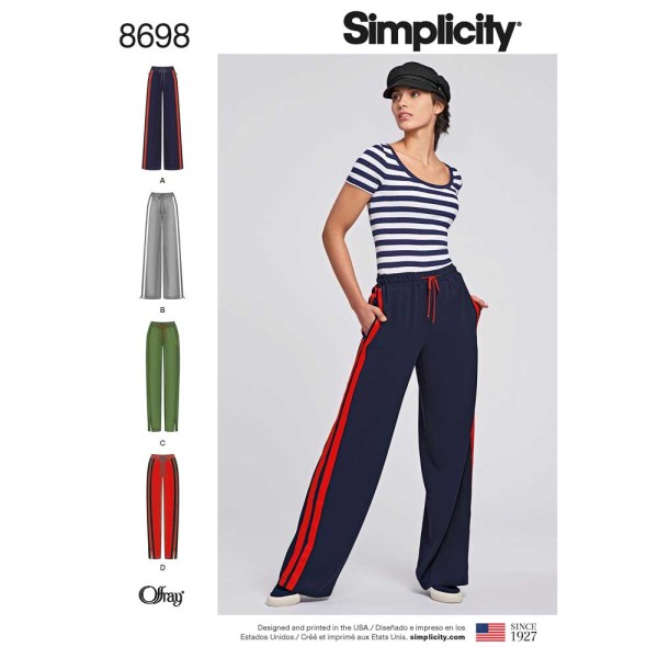 8698 simplicity track pant pattern 8698 a envelope