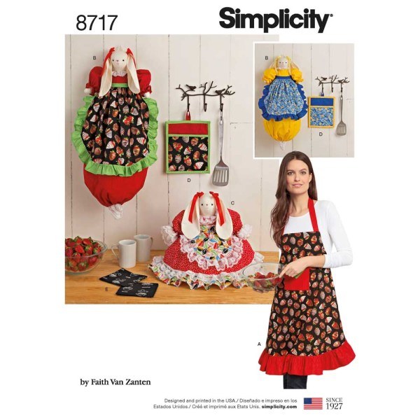 8717 simplicity kitchen accessories pattern 8717 a envelope