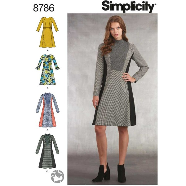 8786 simplicity plaid dress pattern 8786 a envelope
