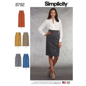 8792 simplicity tailored plaid skirt pattern 8792 a envelope