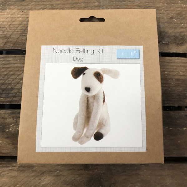 Needle felting kit dog 1