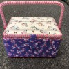 Purple love bikes Sewing box with accessory tray 1
