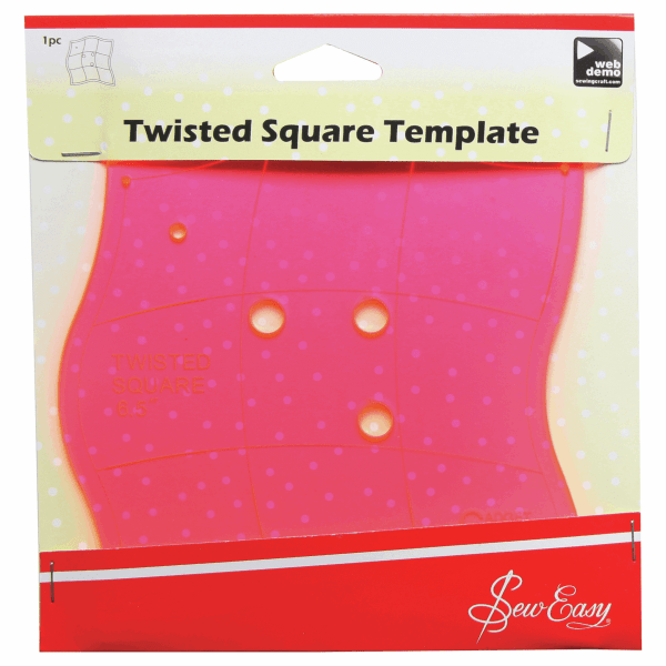Twisted square template