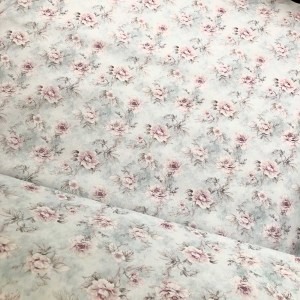 english rose cotton fabric