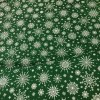 green snow flake cotton fabric