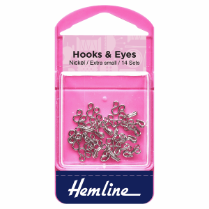 hooks and eye nickel size 0