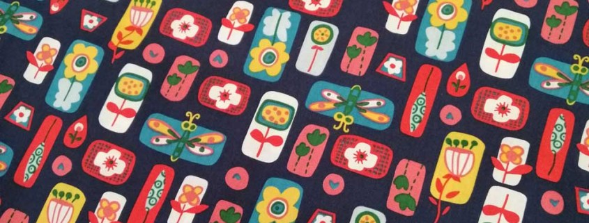 insect flower cotton fabric