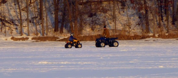 ATV'ing on Lake Demontreville
