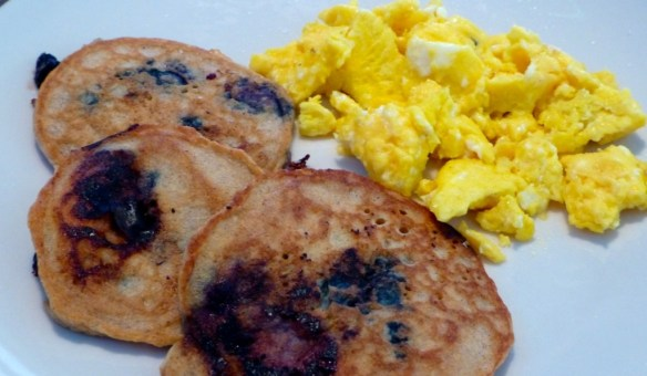 Almond Blueberry Paleo Pancakes