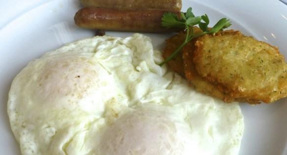 Breakfast with Turkey Sausages