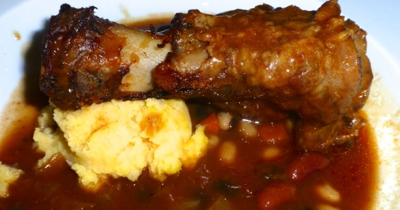 Lamb Shank with Mashed Potatoes