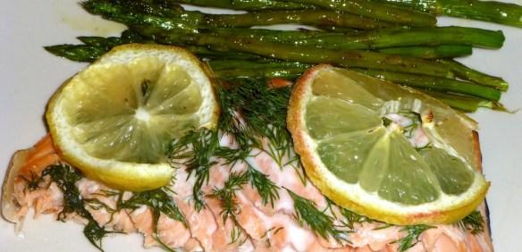 Lemon Dill Salmon with Asparagus