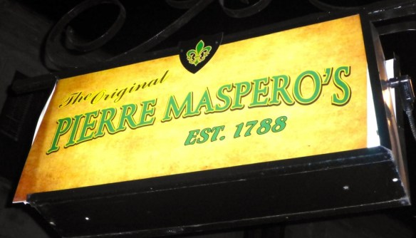 Pierre Maspero's Sign, French Quarter, Louisiana