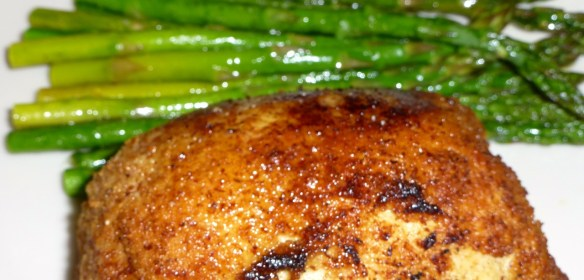 Chicken Kiev with Roasted Asparagus