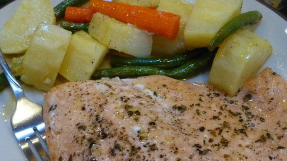 Baked Salmon with Assorted Vegetables