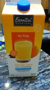 Orange Juice (no pulp)