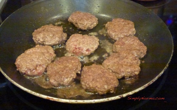 Fry the Sausage Patties