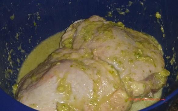 Marinate the Chicken Thighs