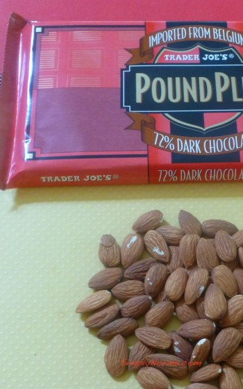 Ingredients for Chocolate Almond Candy