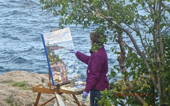 Artist at Palisade Head, Minnesota