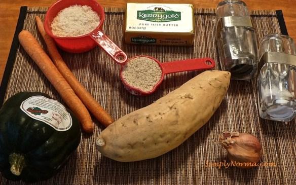 Ingredients for Orange Vegetable Gratin