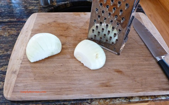 Grate the onion