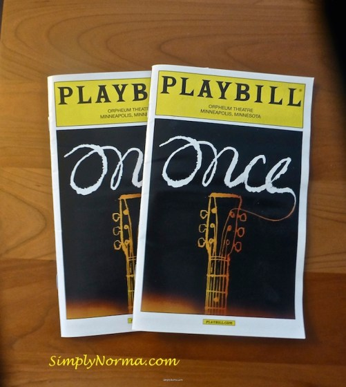 Once, The Musical, Playbill