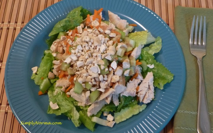 Thai Chicken Salad with Cashew Dressing