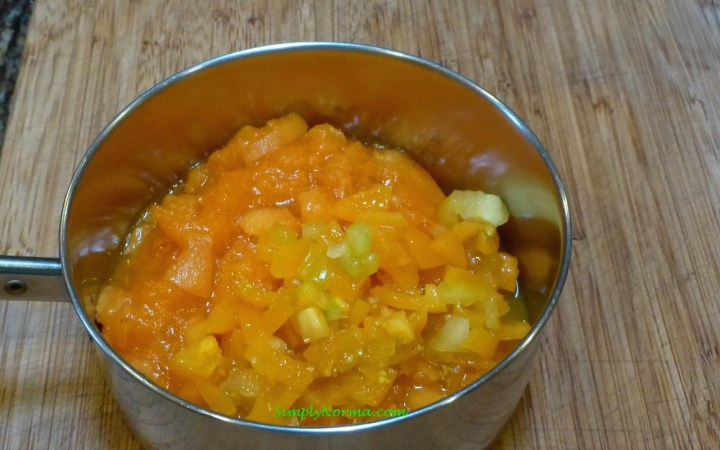 Put Apricots and Tomatoes in a small pot and cook