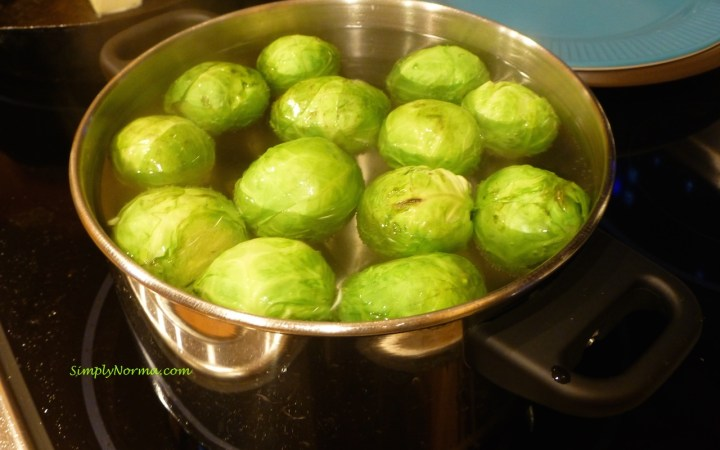Parboil Brussels Sprouts