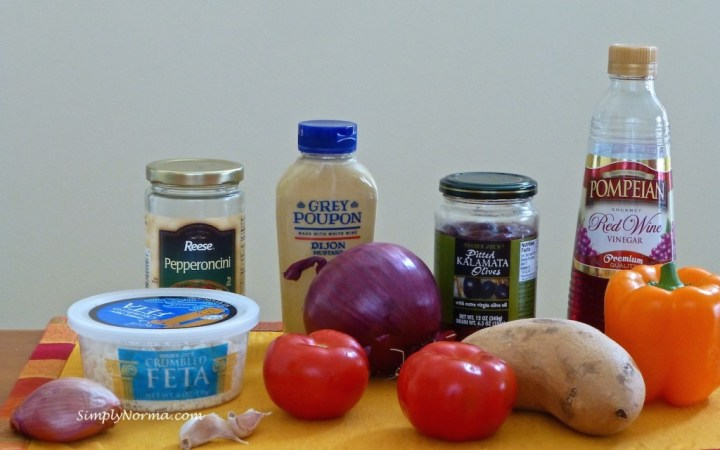 Ingredients for Greek Salad with Sliced Steak (1 of 3)