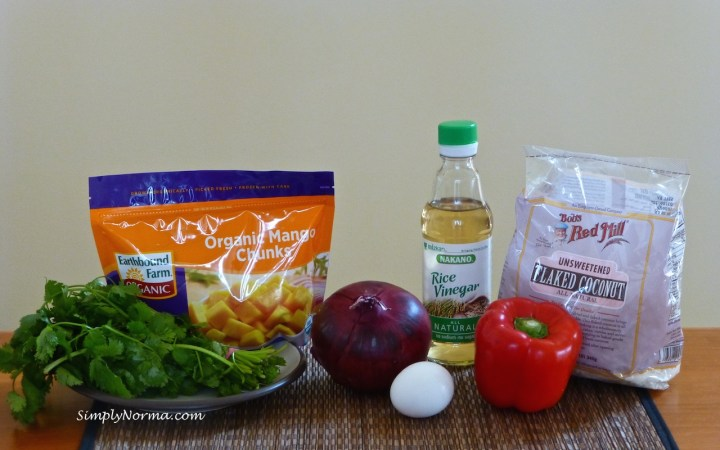 Ingredients for Coconut-Crusted Chicken with Mango Salsa