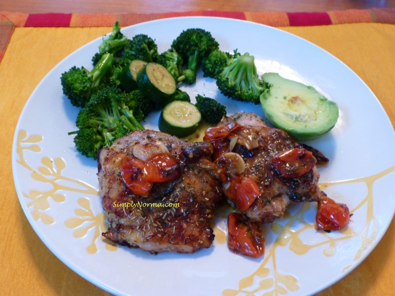 Baked Chicken with Cherry Tomatoes and Garlic