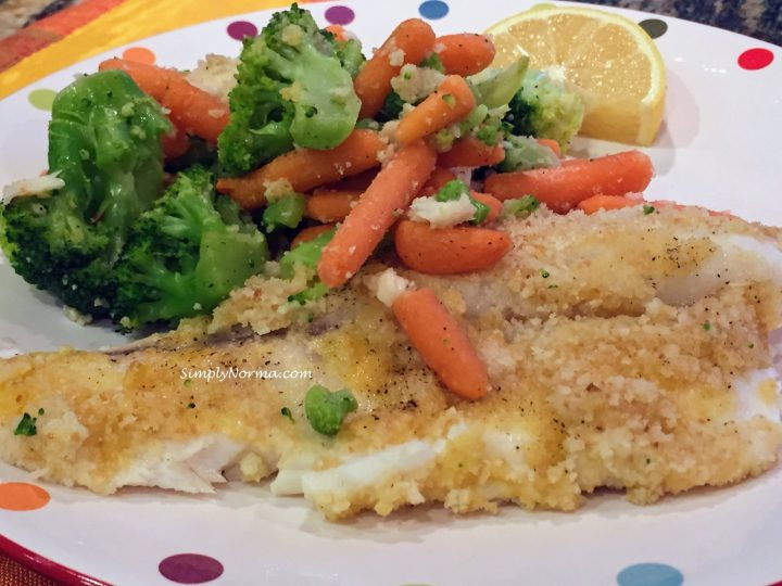 Baked Tilapia with Roasted Vegetables