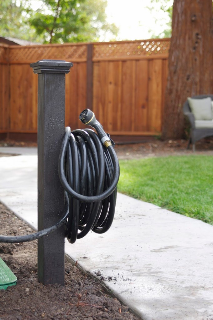 Garden Wooden Post Hose Hanger