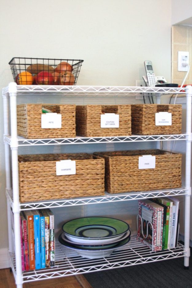 small space solutions: add a kitchen shelf - simply organized