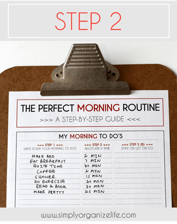 How To Create Your Perfect Morning Routine Plus Free Worksheet Simply Organize Life