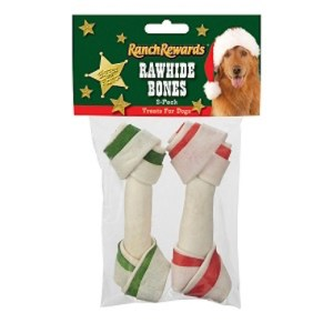 Buy holiday dog treats rawhide bones reviewed by Simply Pets