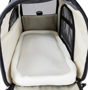 The Pawfect Pets Soft-Sided Pet travel carrier bag fits under the seat of airlines