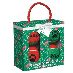 Buy holiday tennis balls for dogs for your holiday pet toys.