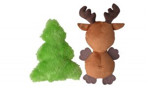 Simply Pets recommends this set of colorful small dog Christmas squeaky toys for the holidays