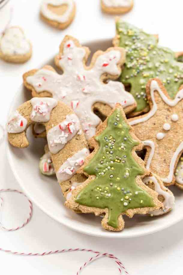 vegan gluten free christmas sugar cookies