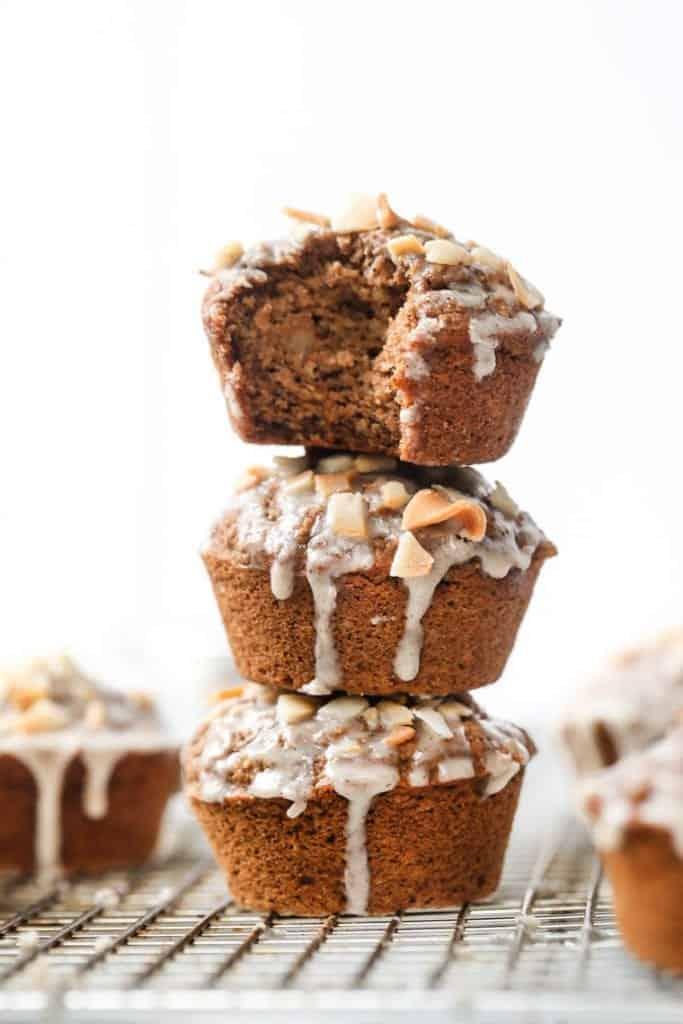 Chai Spiced Oat and Quinoa Flour Muffins