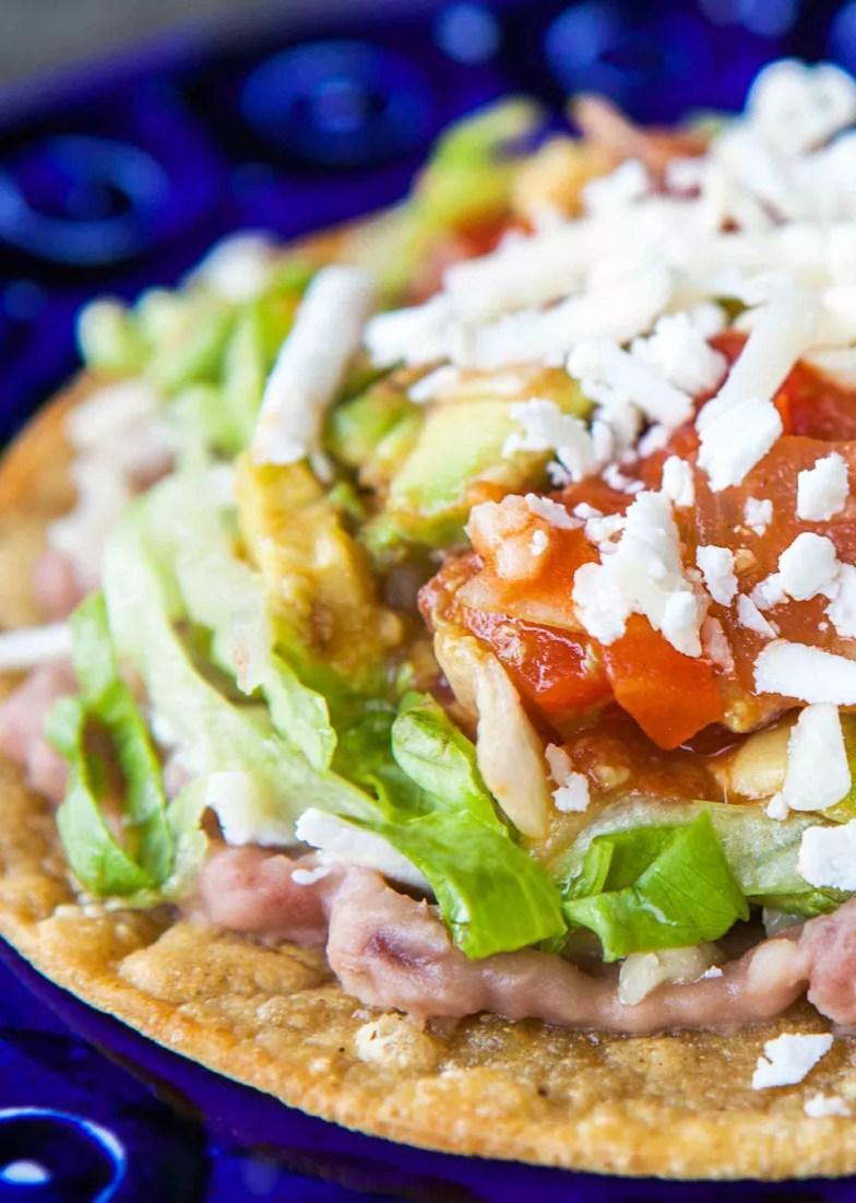 how to make mexican tostadas