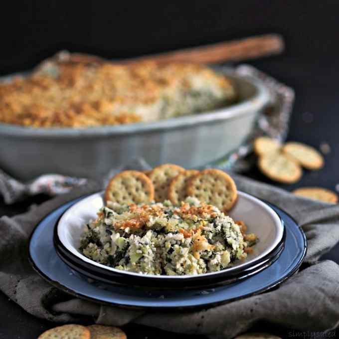 Spinach Artichoke Dip from Simply Sated