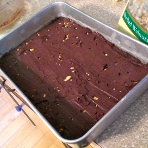 This is what the fudge looks like before it is refrigerated.
