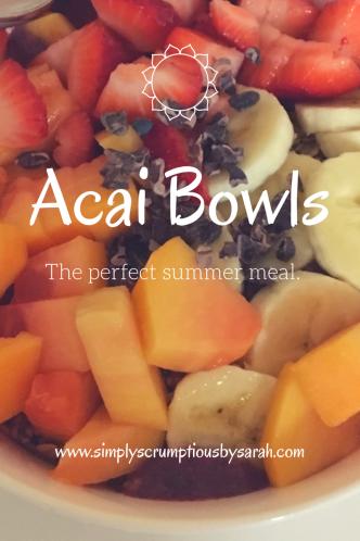 Acai Bowl - www.simplyscrumptiousbysarah.com