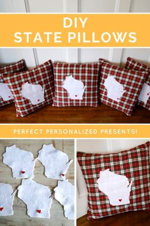 how to make a state specific pillow tutorial, state pillow, state pattern, sewing pattern, diy pillow, pillow slipover, sewing pattern, sewing tutorial, diy gift, housewarming gift, hostess gift, college graduation gift, new home gift