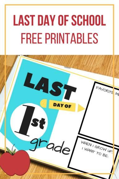 last day of school free printables, school, last day of school, 3k, 4k, 5k, 1st grade, 2nd grade, 3rd grade, 4th grade, 5th grade, 6th grade, 7th grade, 8th grade, 9th grade, 10th grade, 11th grade, 12th grade, printable, free printable, family tradition, scrapbook